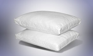 quilted feather pillows