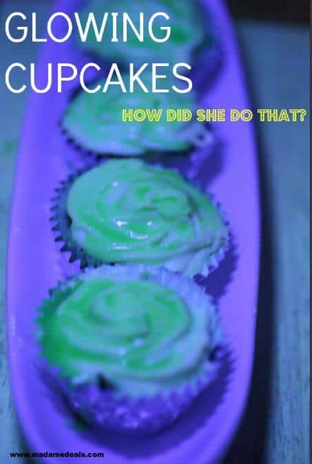 glowing cupcakes