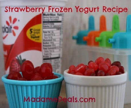 Jelly Bean Strawberry Frozen Yogurt Recipe
