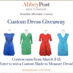 AbbeyPost Made to Measure Custom Dress Giveaway!