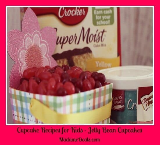Cupcake Recipes For Kids - Jelly Bean Cupcakes