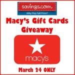 Savings.com Macy's Gift Cards Sweepstakes #SpringIntoMacys