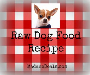 raw dog food recipe