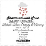 Showered with Love Fundraiser Giveaway #TEAMBELINDA