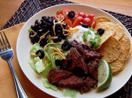 Spicy Beef Taco Salad