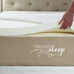 Nature's Sleep 2.5″ High-Density Memory-Foam Mattress Topper with Cover