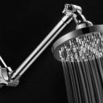 MegaRain 6″ Rainfall Showerhead with 12″ Height/Angle Adjustable Extension Arm