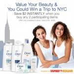 Value your Beauty with Dove and Family Dollar {And enter to win a trip to NYC!} #FDBeautyis