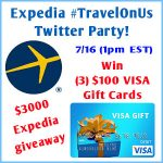 Expedia #TravelOnUs Twitter Party!