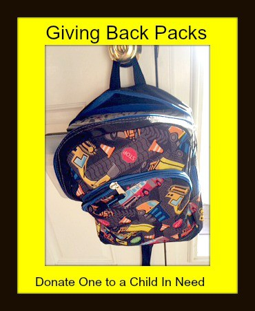 giving backpacks