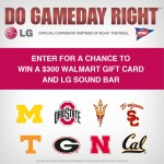 Do Gameday Right: Win $300 Walmart & LG Sound Bar #LGCFB
