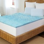 Tempure Rest Marbleized Gel Memory-Foam Mattress Toppers