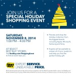 The Best Buy Holiday Shopping Event is coming to a store near you!