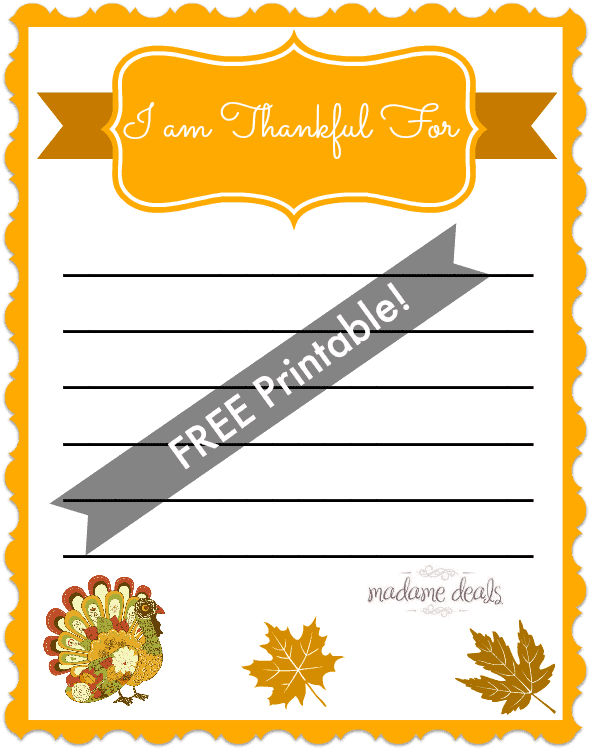 Free thanksgiving printable for kids