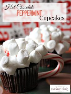 Hot chocolate peppermint  cupcakes