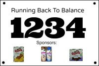 Back To Balance Racing Bib small