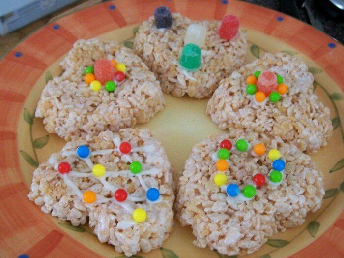 Rice Krispie Valentine treats