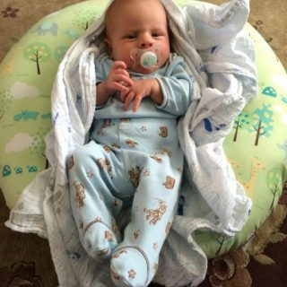 Check out my Boppy® Newborn Lounger Review