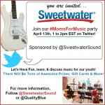 You Are Invited To The Sweetwater Twitter Party! #MomsForMusic