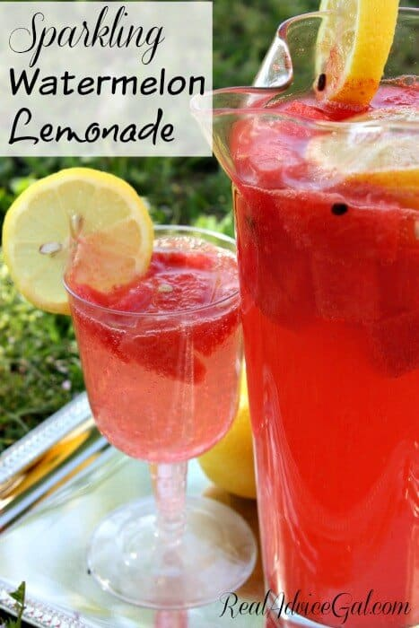 Sparkling Watermelon Lemonade Recipe