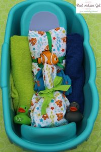 How to make a Disney Baby Bath time gift basket