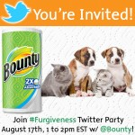 You're Invited To The Pet #Furgiveness with Bounty Twitter Party! w/ Visa gift card prizes!