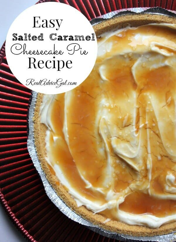 Easy Salted Caramel Cheesecake Pie Recipe