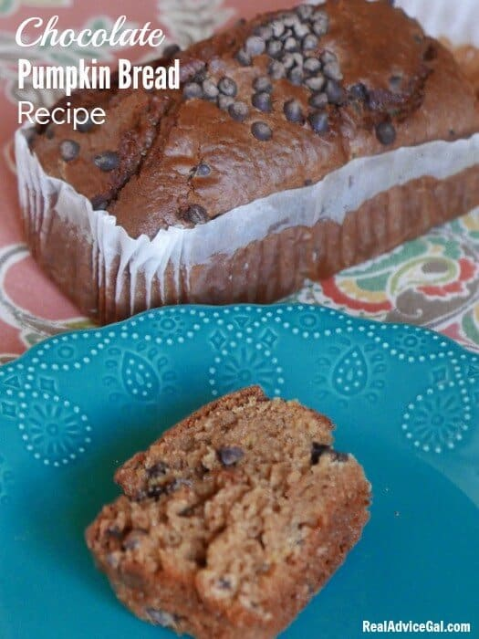 Check out this super delicious Chocolate Chip Pumpkin Bread Recipe