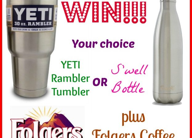 YETI Rambler Tumbler or S'well Bottle Giveaway