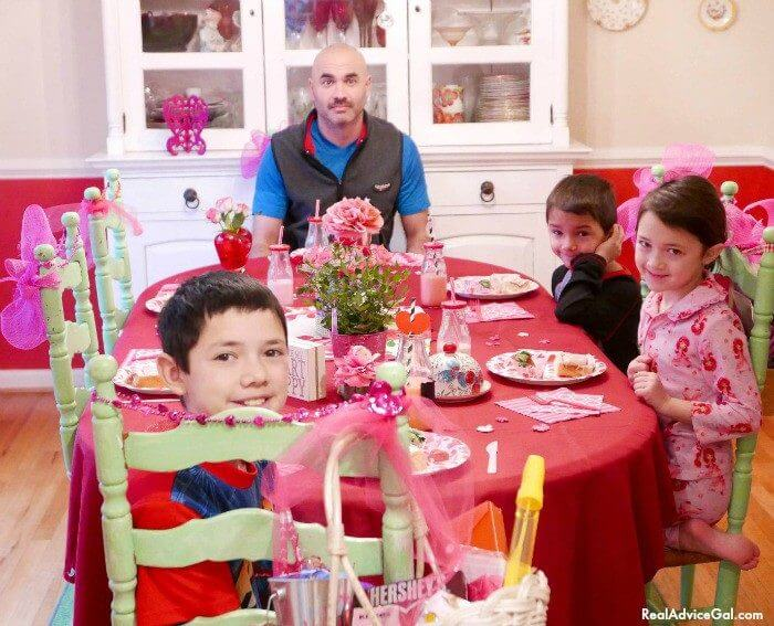 Family Valentine's day celebration made sweeter with Hershey's