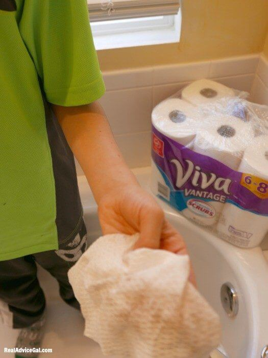 viva vantage paper towels used for cleaning