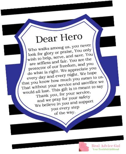 Dear Hero Printable