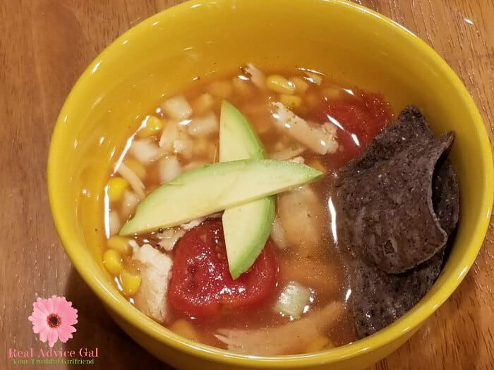 Enjoy a hearty soup like this Southwestern Turkey Soup with Avocado Recipe