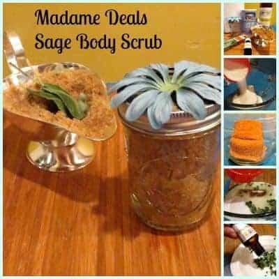 Homemade Body Scrub Sugar and Sage