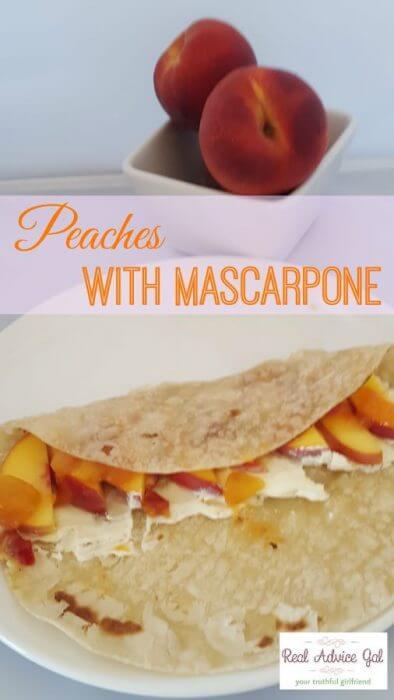 Peaches with Mascarpone Recipe
