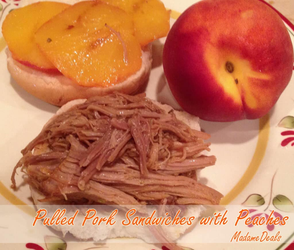 Kids Meal Recipes: Pulled Pork Sandwiches with Peaches Recipe