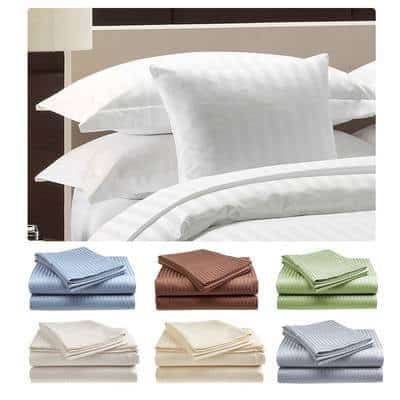 Fine Deluxe Hotel 300 Thread Count 100% Cotton Sheet Set Only $19.99!