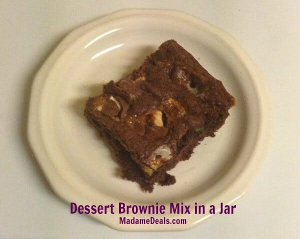 Recipes for Snacks for Kids: Dessert Brownie Mix in a Jar Recipe