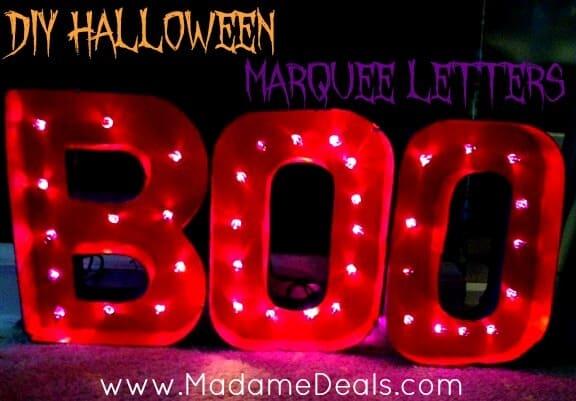 DIY Halloween Marquee Letters
