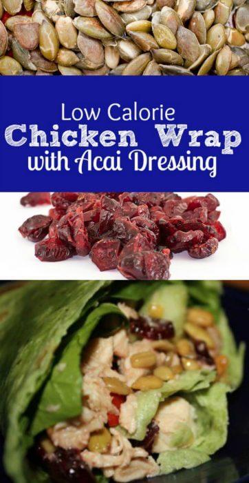 low calorie acai chicken wrap