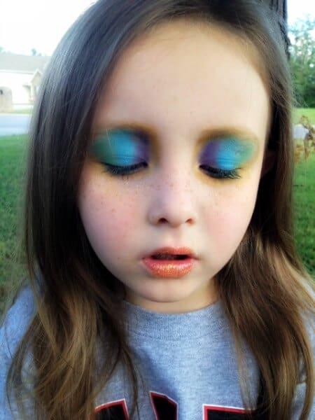 Easy Halloween Makeup For Kids.Easy Halloween Makeup For Kids Peacock Edition Real