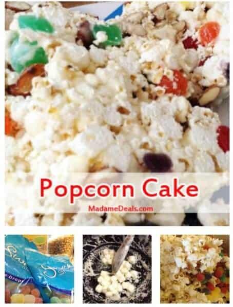 Recipes for Snacks for Kids: Snack Popcorn Cake