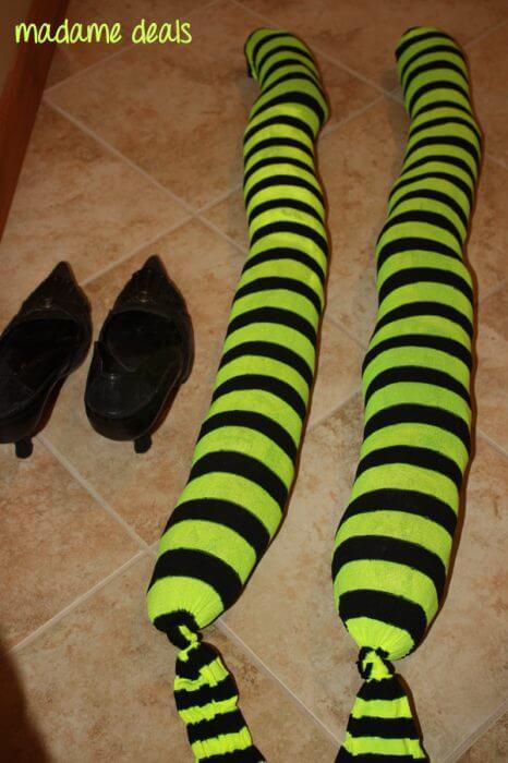 DIY Witch Legs