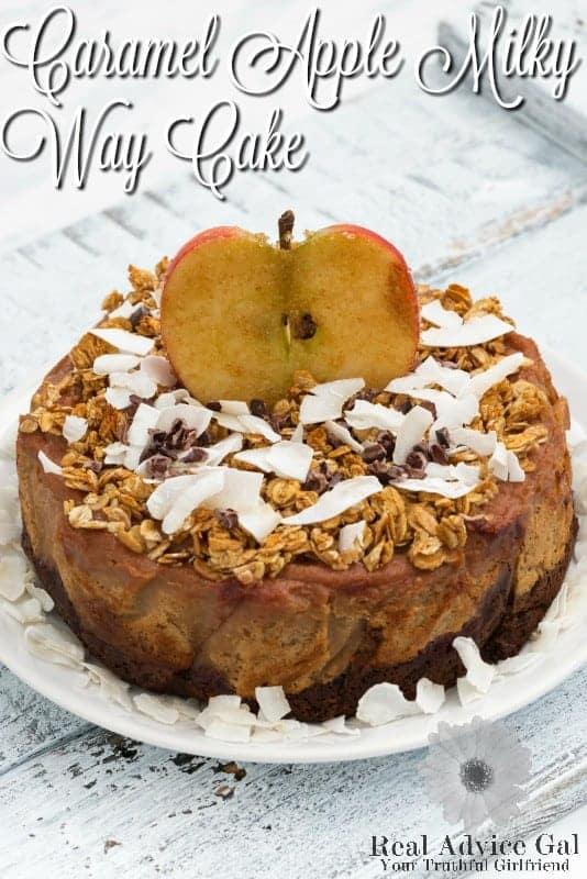 Caramel Apple Milky Way Cake