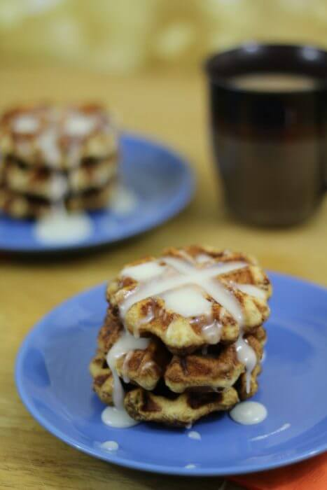 Cinnamon Roll Waffles are so easy to make
