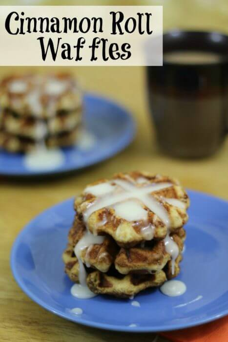 Cinnamon Roll Waffles are so easy to make but will wow your family and guests