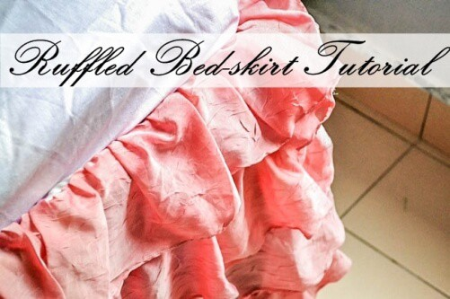 DIY Project: Easy Ruffled Bedskirt Tutorial Using Old Bedding
