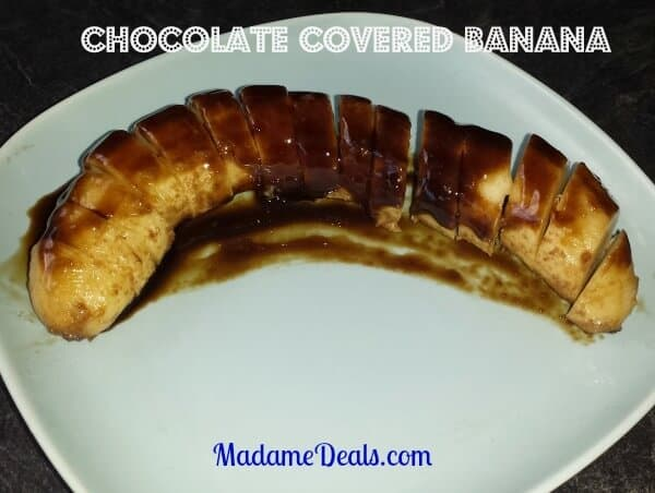 Weight Watchers inspired Low Calorie Chocolate Bananas