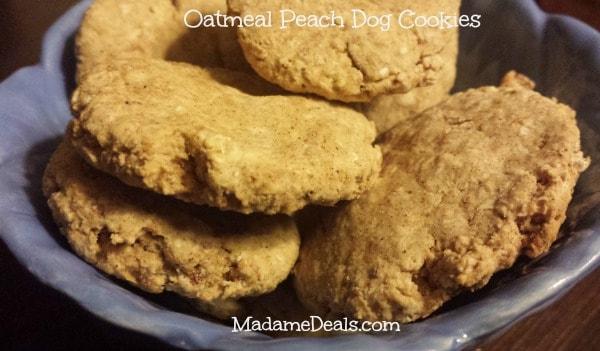 Healthy Dog Treats – Oatmeal Peach Cookies