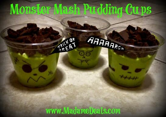 Monster Mash Pudding Cups